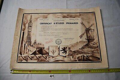 AF1 Ancien certificat d'études primaires - Lille 1939 -
