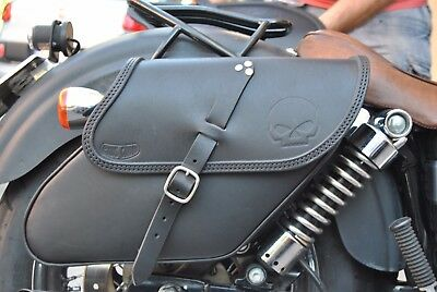 SADDLE BAG RIGHT SIDE FOR HARLEY DAVIDSON DYNA  BEST ITALIAN QUALITY&