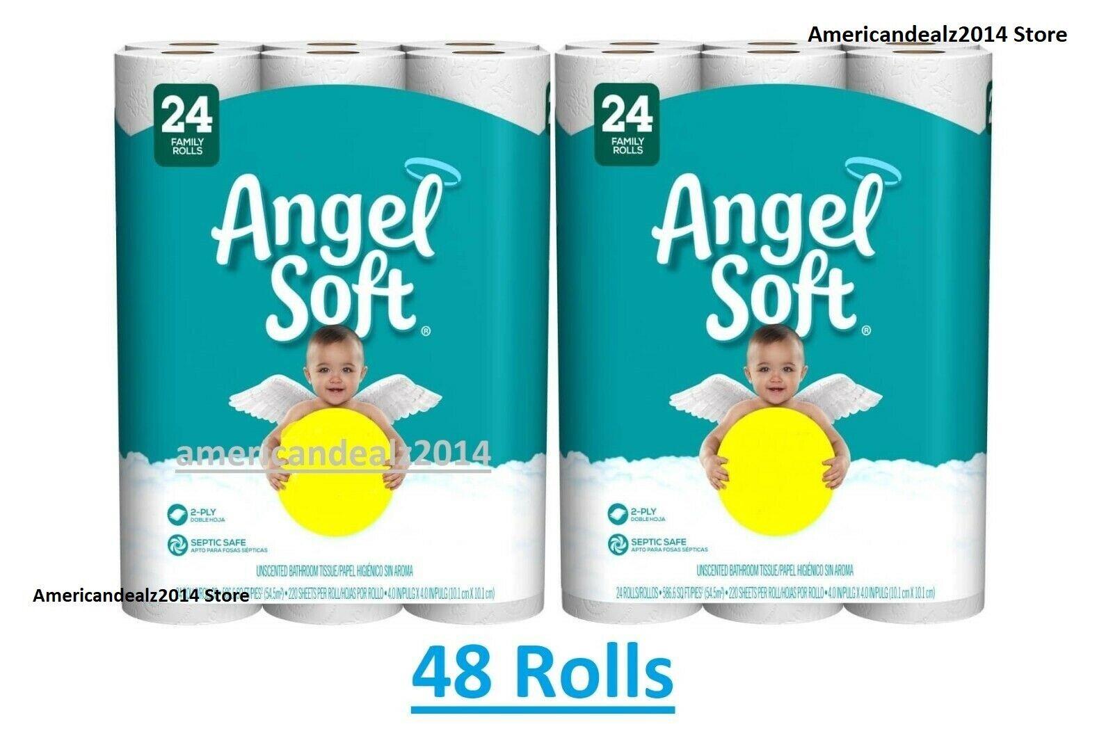 Angel Soft Bath Toilet Bathroom Tissue Big/Family Roll, 2-
