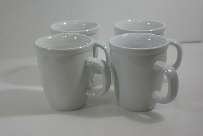 Home White Ceramic Coffee Mugs Tea Cups 12 Oz Lot of 4