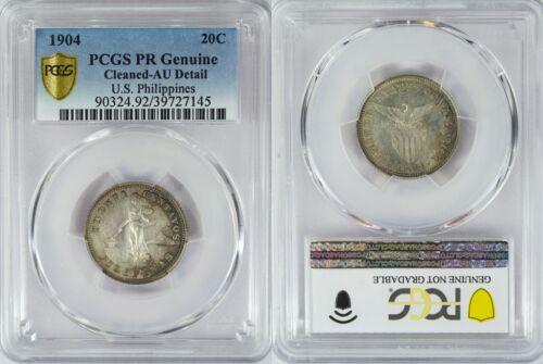 1904 US/Philippines 20 Centavos PROOF ~ PCGS AU Details ~ Allen#10.03 ~ 145