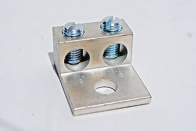 14-10 Awg Aluminum Double Barrel Mechanical Lug For Copper Or Aluminum Wire
