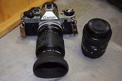 Canon AE-1 Film Camera w/ 50mm & 70-210mm lens