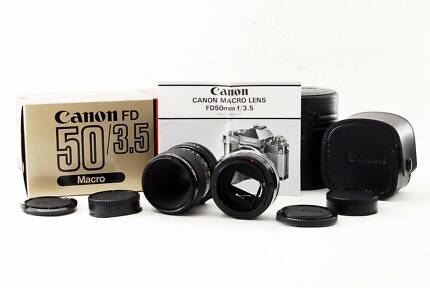 Canon FD NFD 50mm f/3.5 Macro lens w/original box fromJapan