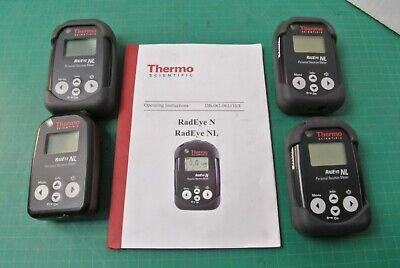 Lot Of 4 Thermo Scientific Radeye Nl Personal Neutron Detector 4250678 4250678