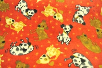 Dog Spots Paw Prints Pet Blanket Can Personalize Double Sided 28x22