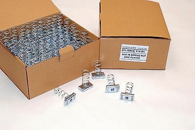 100 Strut Channel Nuts 516-18 Standard Spring Zinc Plated Unistrut Nut