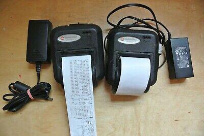 Lot Of 2 Do Datamax Oneil Microflash 2te Mf2te Bt Portable Thermal Printer