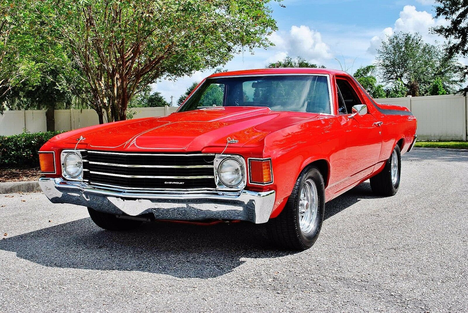 1972 Chevrolet El Camino Fully Restored Must See Houndstooth Interior Auto Power Steering Power Front Disc Brakes Suspension Upgrades  nice driver !
