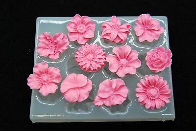Small flowers #4, Silicone Mold Candle Chocolate Polymer Clay Jewelry Soap Wax