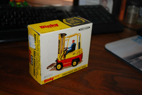 Dinky toys Conveyancer Fork Lift Truck Box only 1972