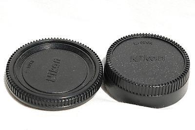 Lens REAR Cap & Camera Body Cap for NIKON DSLR & SLR D80 D90 D3000 D5000 D7000