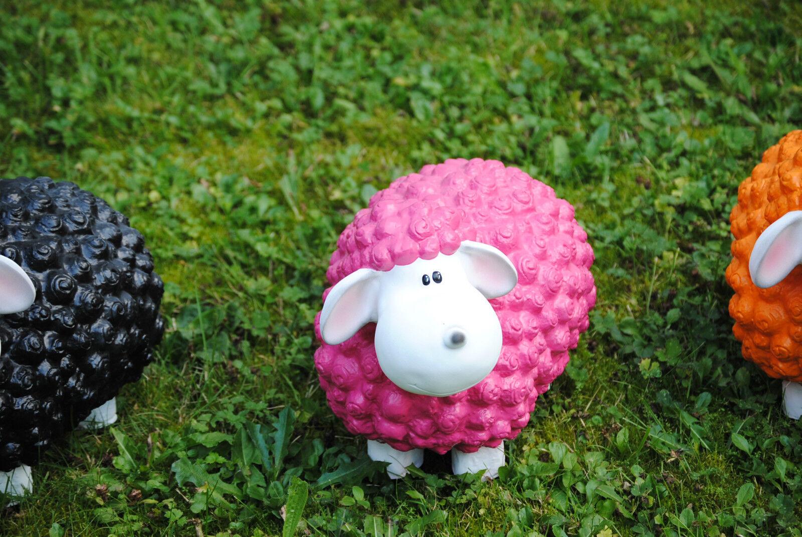 lustiges deko schaf bunt lamm rosa pinktierfigur. Black Bedroom Furniture Sets. Home Design Ideas