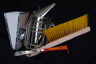 Beekeeper Toolkit Smoker Hive Tool Bee Brush- Us Seller