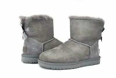 Bow Ugg Boots (UGG Australia Women's Mini Bailey Bow Boots II 1016501 Grey Sz 6-10)