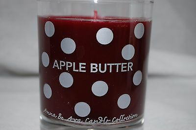 ANNA & AVA FOR AROMATIQUE SCENTED GLASS JAR CANDLE 5oz APPLE BUTTER NEW Apple Glass Pillar Candle