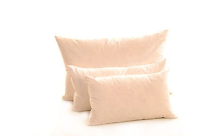 Duck Feather Extra Filled Bolster Pillows-All Sizes 100% Cotton Cover made In UK