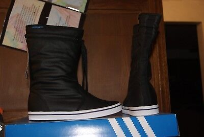 Womens ADidas ADI Honey Boot Boots Black White Sz 6 or 7 Womens Black Honey