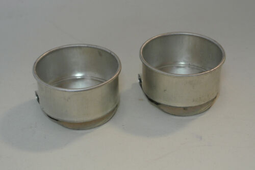 """2 Metal Palette Cups w/ bottom clips for Palette: 2"""" Diameter New-made in Japan"""