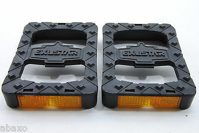 Exustar Toe Clip Pedal Platform Adapter W//toe Clips /& Straps Cleats Sold Sep
