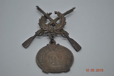 Antique Russian Imperial Marksman Silver  84 Badge