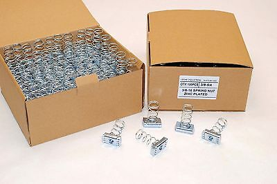 100 Strut Channel Nuts 38-16 Standard Spring Zinc Plated Unistrut Nut