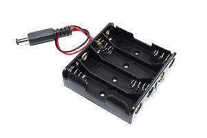 Clip-Batteria-4xaa-5-5mm-2-1mm-connettore-DC-6v-flusso-SCUDO-Arduino-Workshop