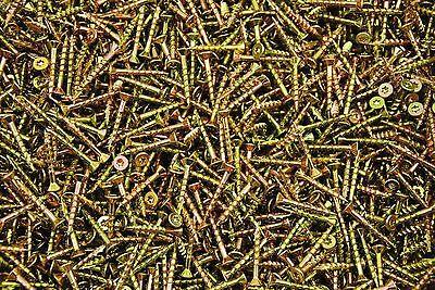 1000 Torx T20 Star Flat Head 8 X 1-14 Yellow Zinc Type 17 Outdoor Wood Screw