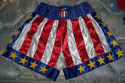 Pro Boxing Boxer Fighter Fight MMA USA US Flag Star Champ Trunks Shorts Costume