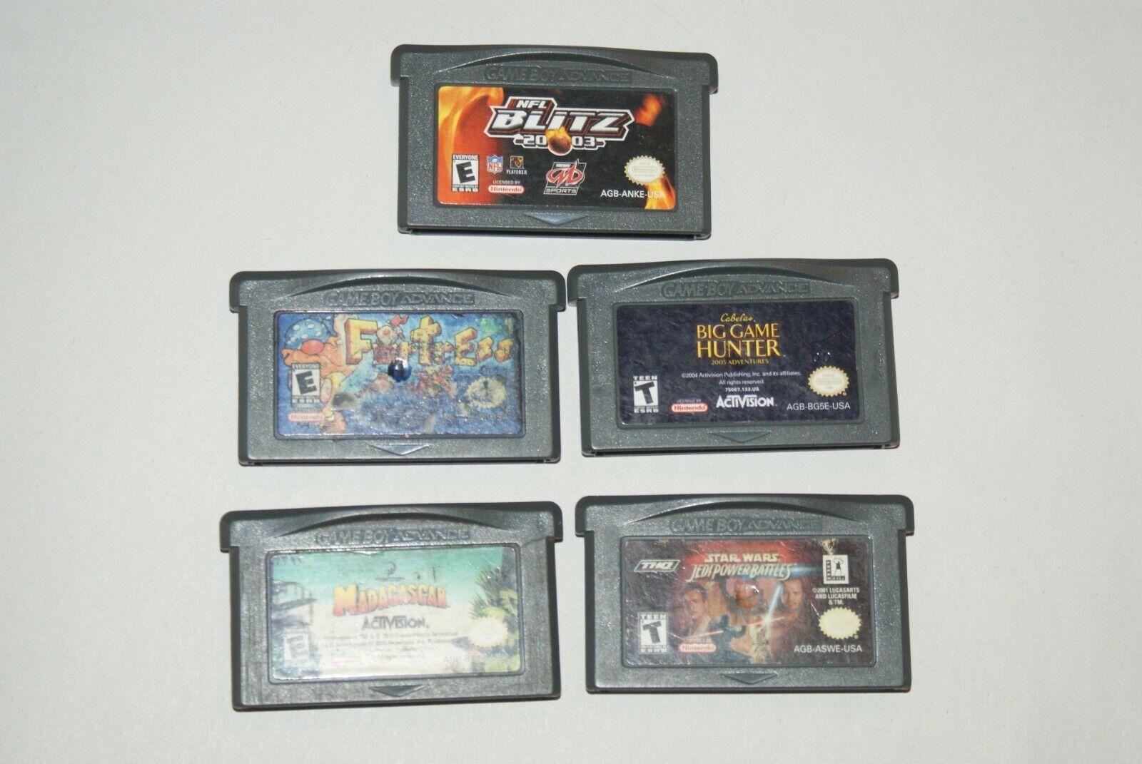 Lot 5 Nintendo Game Boy Advance Star Wars, Big Game Hunter, NFL, Fortress Tested - $8.50