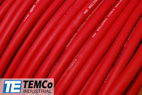 WELDING CABLE 4 AWG RED Per-Foot CAR BATTERY LEADS USA NEW Gauge Copper Solar