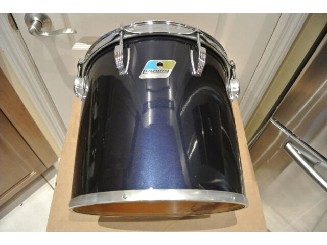 """1980 LUDWIG NAVY BLUE IMRON / BLACK CORTEX 12"""" CONCERT TOM to YOUR DRUM SET A378"""
