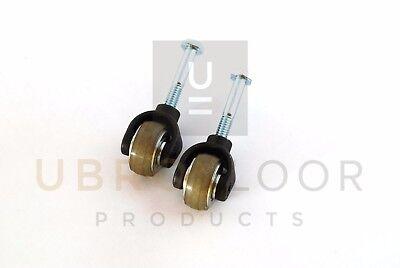 Set Of 2 Urethane Wheel Caster Assembly For Clarke Super 7 Edger Sander 30666a