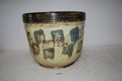 E1 Ancien cache pot - grés - signé Losson