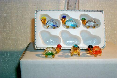 MINI ART-GLASS HAT-TURTLE 0408-A MINI-size BOX LOT 6 PCS..at play setting