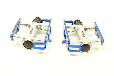 WELLGO R025 Blue Track Fixed Gear Bike Pedals Road Bicycle Lite 235g 9//16