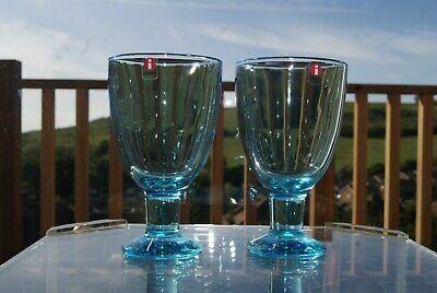 2 Kerttu Nurminen Light Blue Verna Glasses Iittala Finland