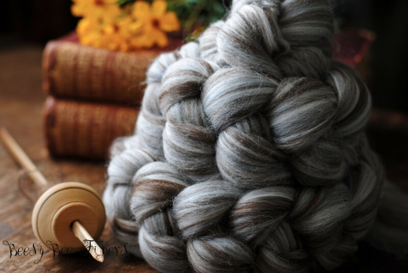 Merino Natural Undyed Wool Roving Combed Top Spinning or Felting Fiber 4 oz