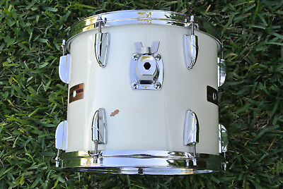 "RARE 1986 YAMAHA POWER TOUR CUSTOM 12"" PURE WHITE TOM for YOUR DRUM SET! #D532"