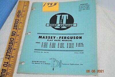 It Massey Ferguson Flat Rate Manual Mf25 Thru Mf1130 Check Photos Copyright 1967