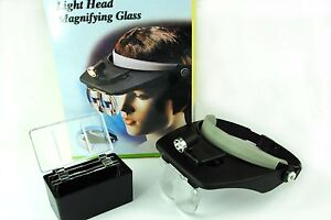Adjustable Head Band Magnifier Magnifying Lens Glass with Light Craft V5097