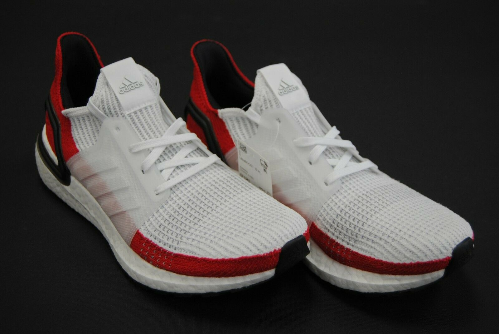 [EF1341] NEW MEN'S ADIDAS ULTRABOOST 19 RUNNING SHOES WHITE RED BLACK AM335
