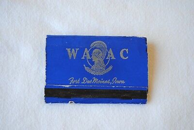 Vintage Women S Army Auxiliary Corps  Waac Matchbook Fort Des Moines  Iowa