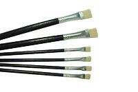 6 Lefranc & Bourgeois Hog Bristle Oil/acrylic Brush 4x Size 6 2x Size 12. S7323 -  - ebay.co.uk
