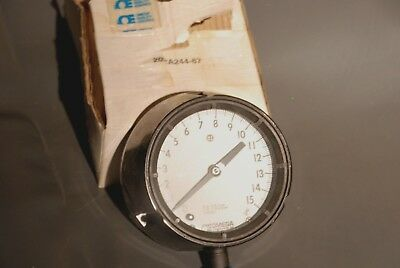 Omega 4-12 15 Psi Fat Pressure Gauge 316 Stainless 3 Depth New In Box