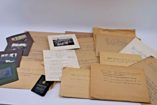 7 LBS ANTIQUE GERMAN GENEOLOGY PAPERWORK, LETTERS, DOCUMENTS, PHOTOS & COPIES