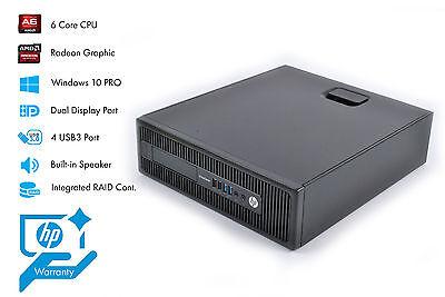 HP EliteDesk 705 G1 SFF PC Desktop AMD A6 3.50GHz 4GB 500GB WIN 10 Warranty G1H