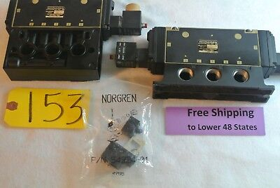 4 Pcs Norgren Air Directional Control Spool Valve W Solenoid Pneumatic Free Sh