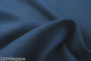 B2 DARK NAVY BLUE 2 WAY FABRIC RUSTIC-75%WOOL 15%CASHME 10%TENCAL DONEGAL TWEED