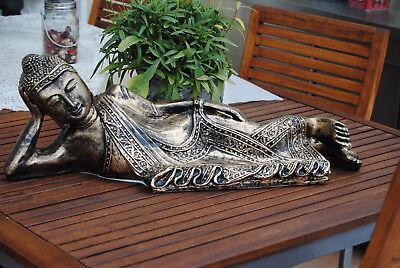 Thailand Buddha-statue (Liegender Buddha Figur Nirvana Budda Statue Nirwana Thailand Asien Style 72 cm)